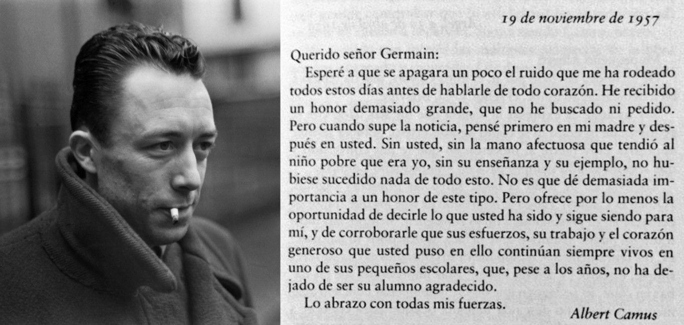 Carta de Albert Camus a su maestro