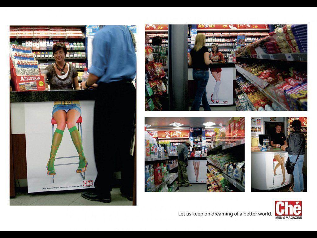 Ché men's magazine Poesía Visual Publicidad