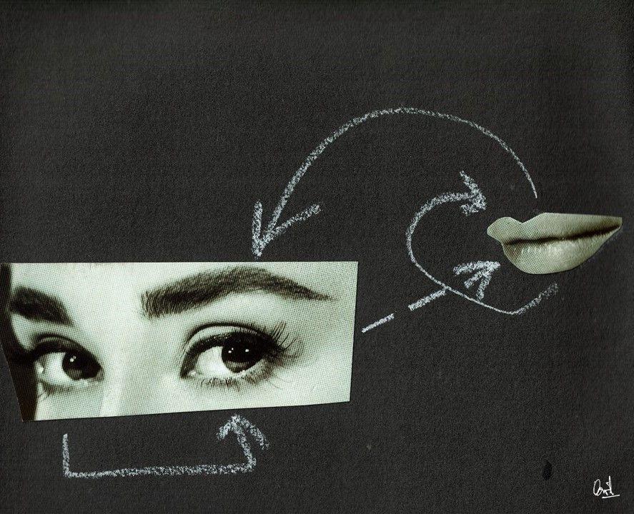 Comunicándose consigo misma Collage nº 12 de David Pérez Pol