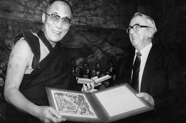 Discurso del Dalai Lama en el premio Nobel de la Paz de 1989