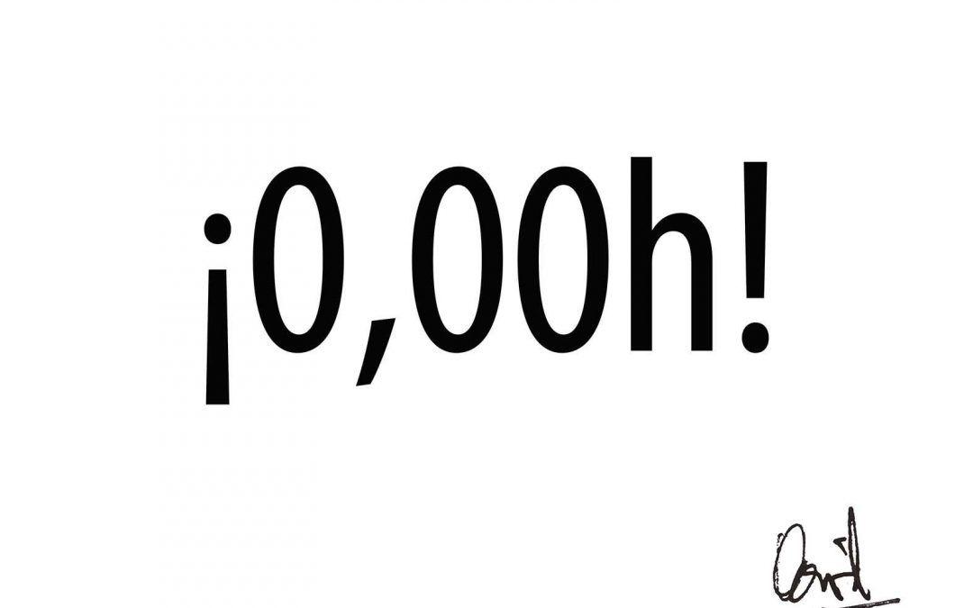 ¡0,00h!, caligrama