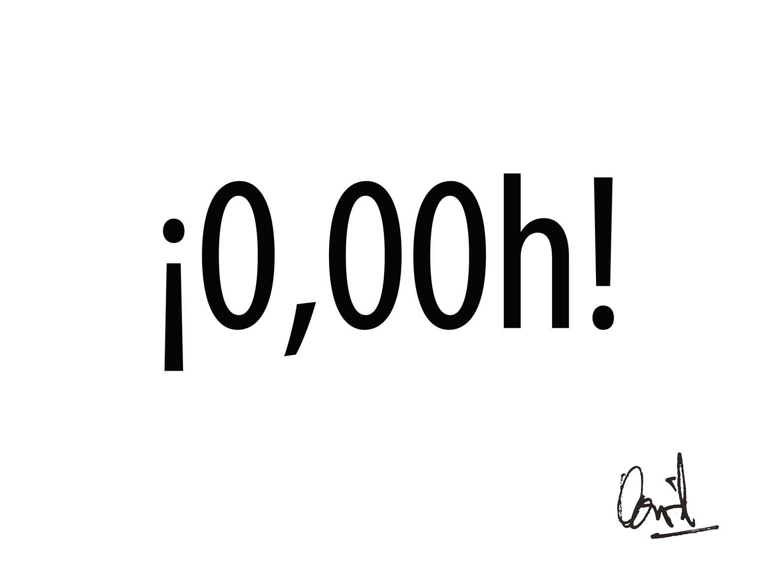 ¡0,00h! (Caligrama, Poema Visual)