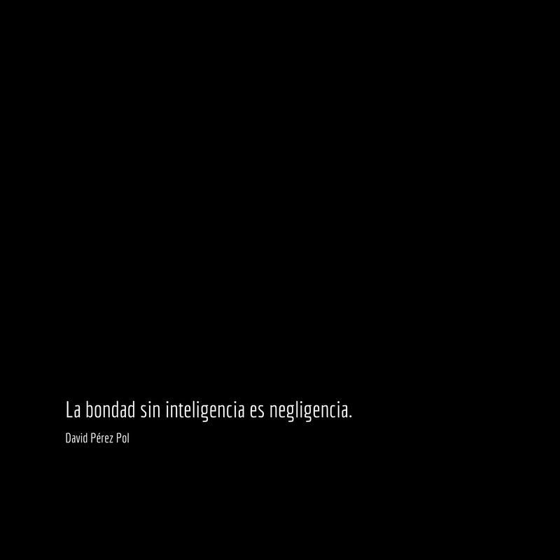La bondad sin Aforismo nº 162 de David Pérez Pol
