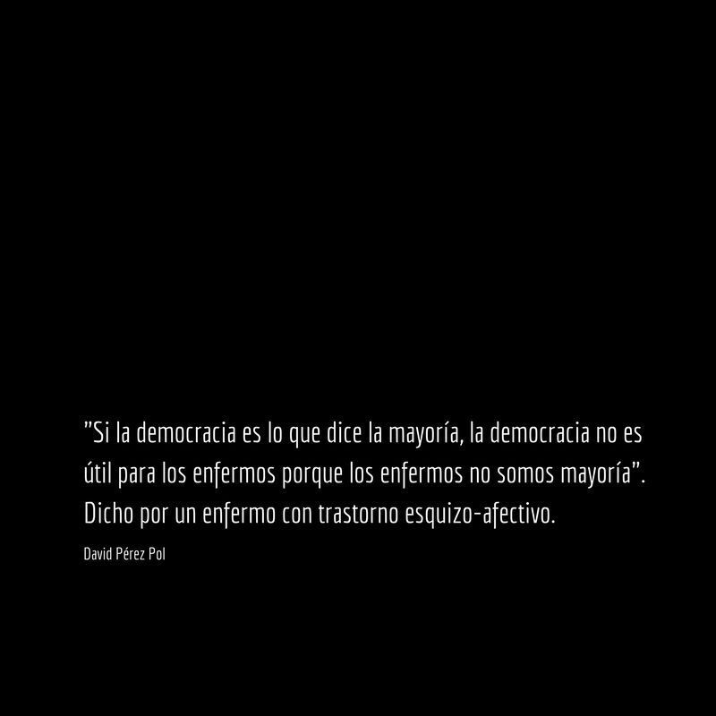 Si la democracia es Aforismo nº 230 de David Pérez Pol