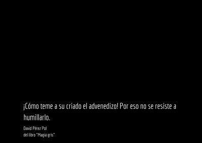 Aforismo nº 32 del libro Magia gris de David Pérez Pol