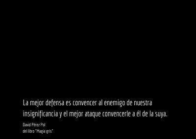 Aforismo nº 43 del libro Magia gris de David Pérez Pol