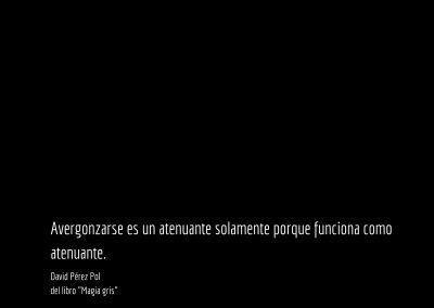 Aforismo nº 45 del libro Magia gris de David Pérez Pol