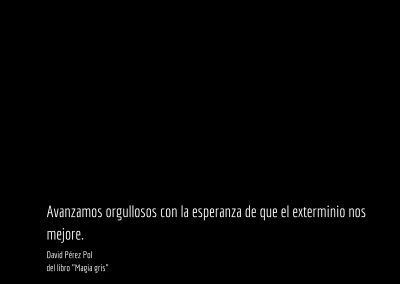 Aforismo nº 47 del libro Magia gris de David Pérez Pol