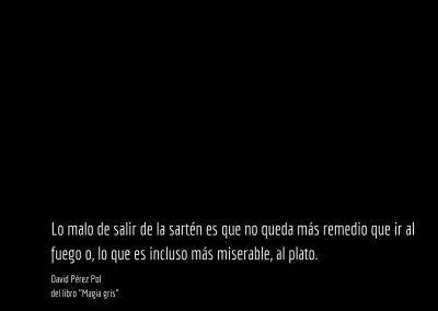 Aforismo nº 62 del libro Magia gris de David Pérez Pol