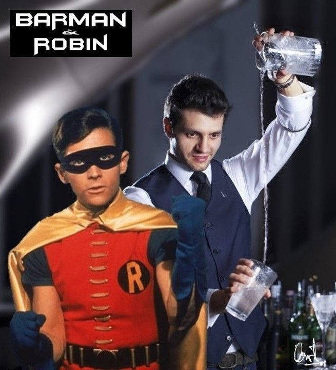 Barman y Robin, fotomontaje de David Pérez Pol