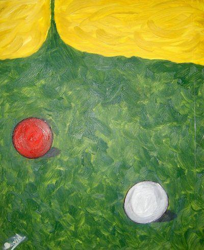 Billar, pintura al óleo de David Pérez Pol