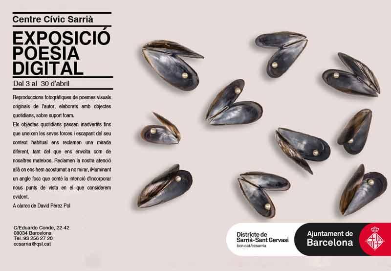 Exposición de Poesía Visual en Centre Cívic de Sarrià (Barcelona)