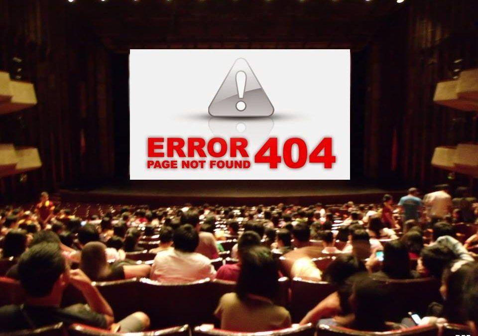 Cine Error 404 Page not found