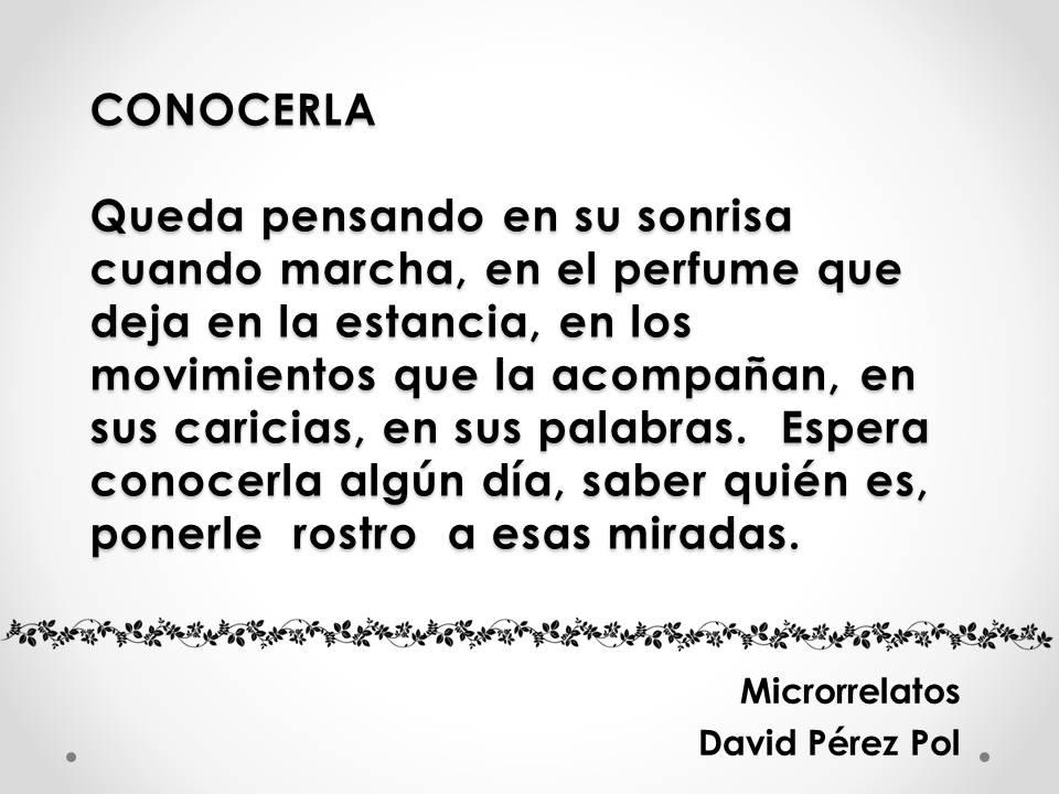 Conocerla Microrrelato nº 6 de David Pérez Pol