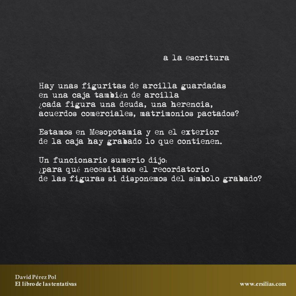 Hay unas figuritas de arcilla Poema nº 31 de El libro de las tentativas de David Pérez Pol