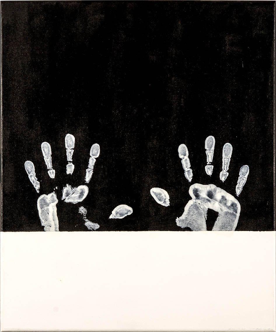 En blanco y negro díptico pintura