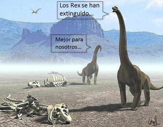 La extinción del T-Rex, fotomontaje de David Pérez Pol