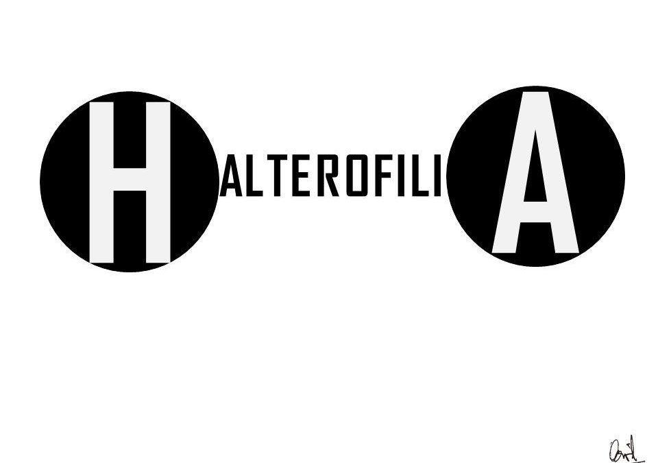 Halterofilia, caligrama