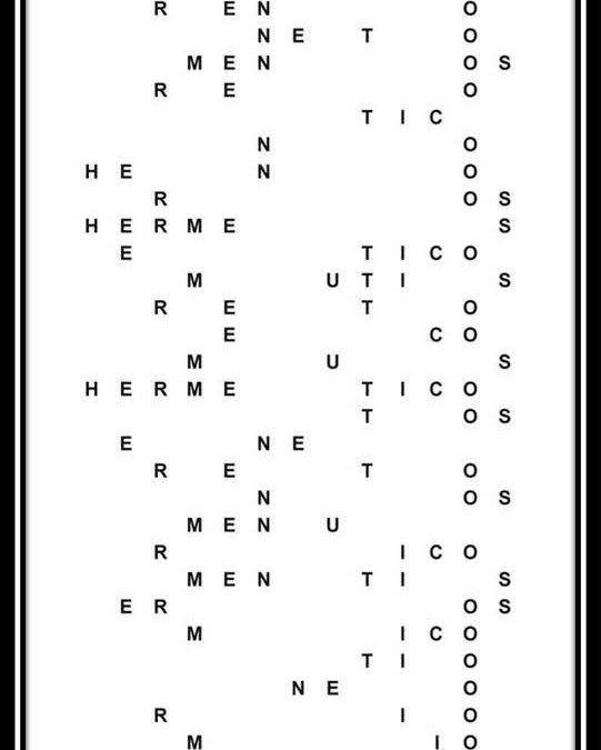 Hermenéuticos (para Eric), caligrama