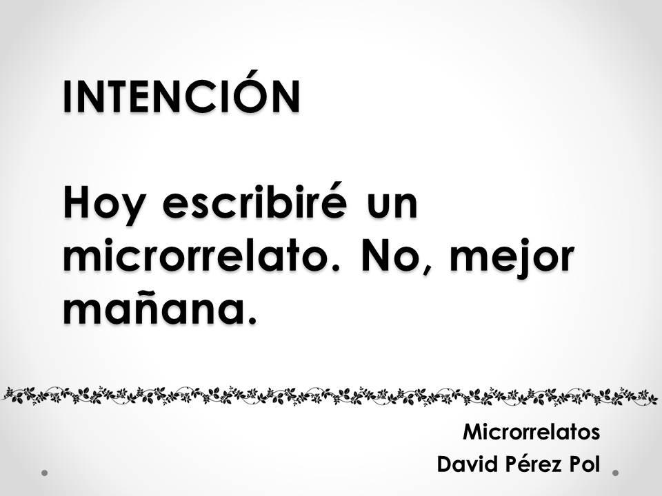 Intención Microrrelato nº 14 de David Pérez Pol