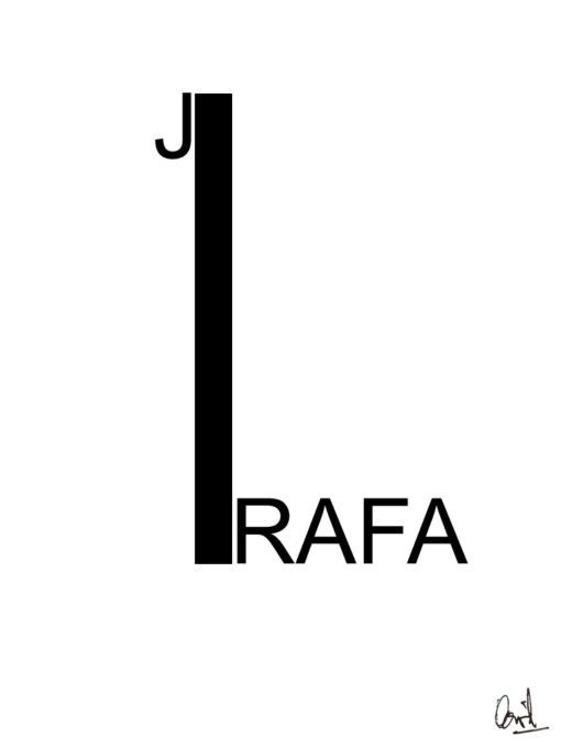 Jirafa, caligrama, Poema Visual de David Pérez Pol