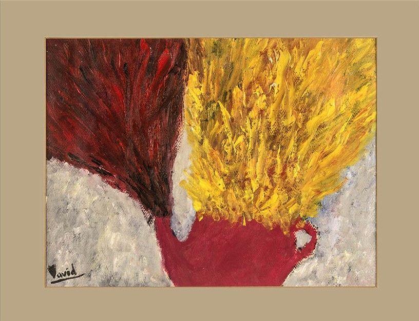 La hora del té (pintura al óleo)