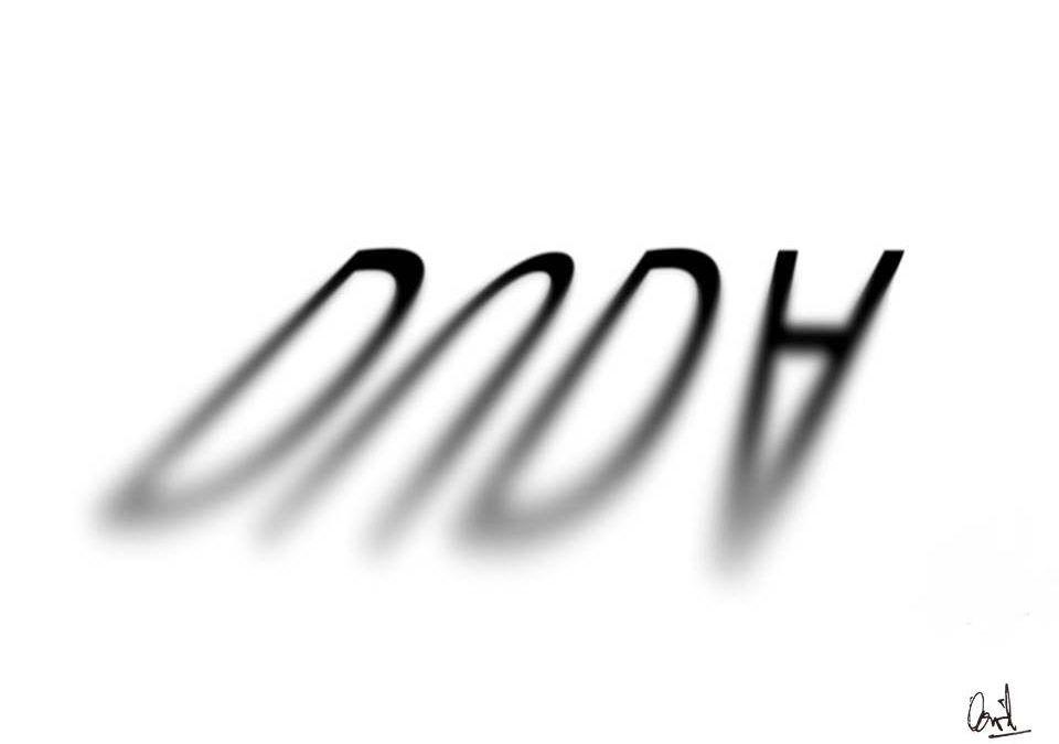 La sombra de una duda, caligrama
