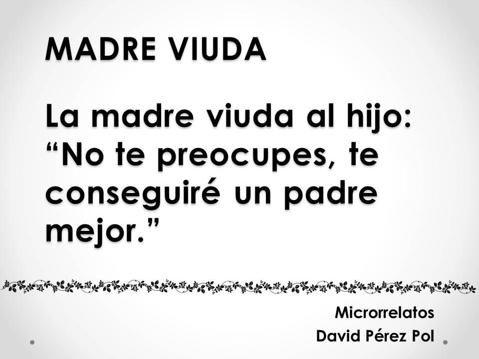 Madre viuda Microrrelato nº 17 de David Pérez Pol