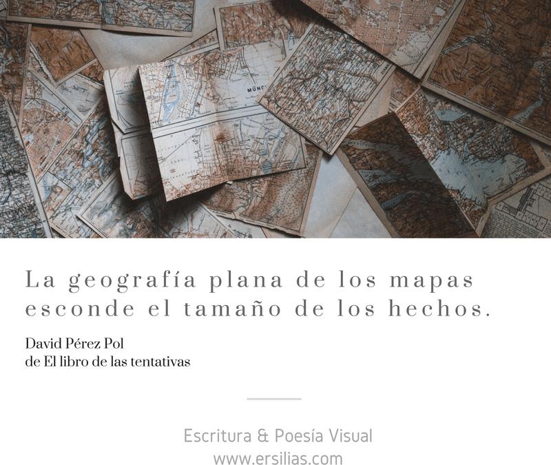 La geografía plana de los mapas
