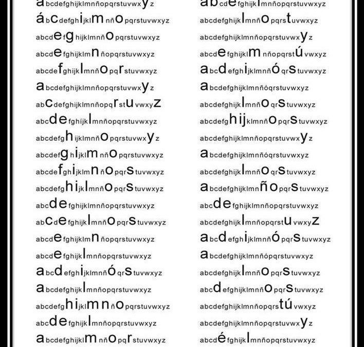 ABCgrama, caligrama