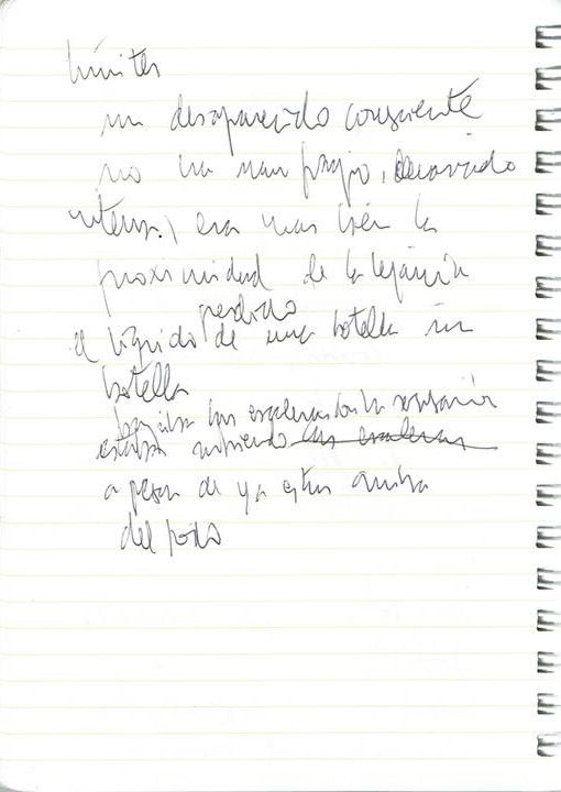 Un desaparecido consciente Texto manuscrito nº 10