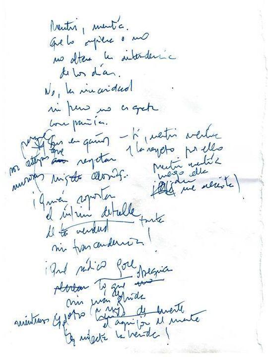Anotaciones a vuela pluma Texto manuscrito nº 18