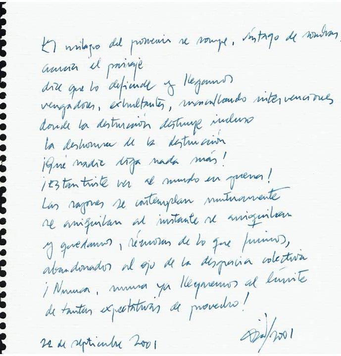 El milagro del porvenir se rompe Texto manuscrito nº 2