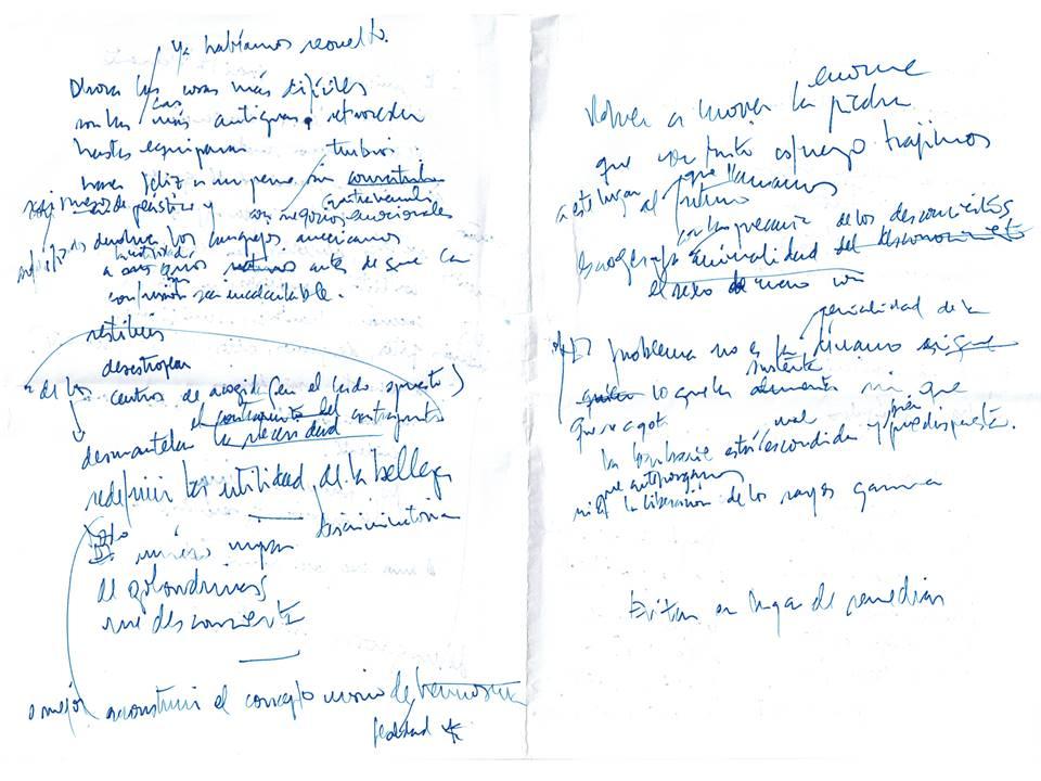 Ahora las cosas más difíciles Texto manuscrito nº 22
