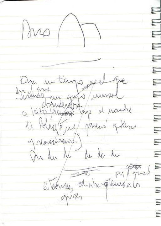 Era un tiempo en el que Texto manuscrito nº 25