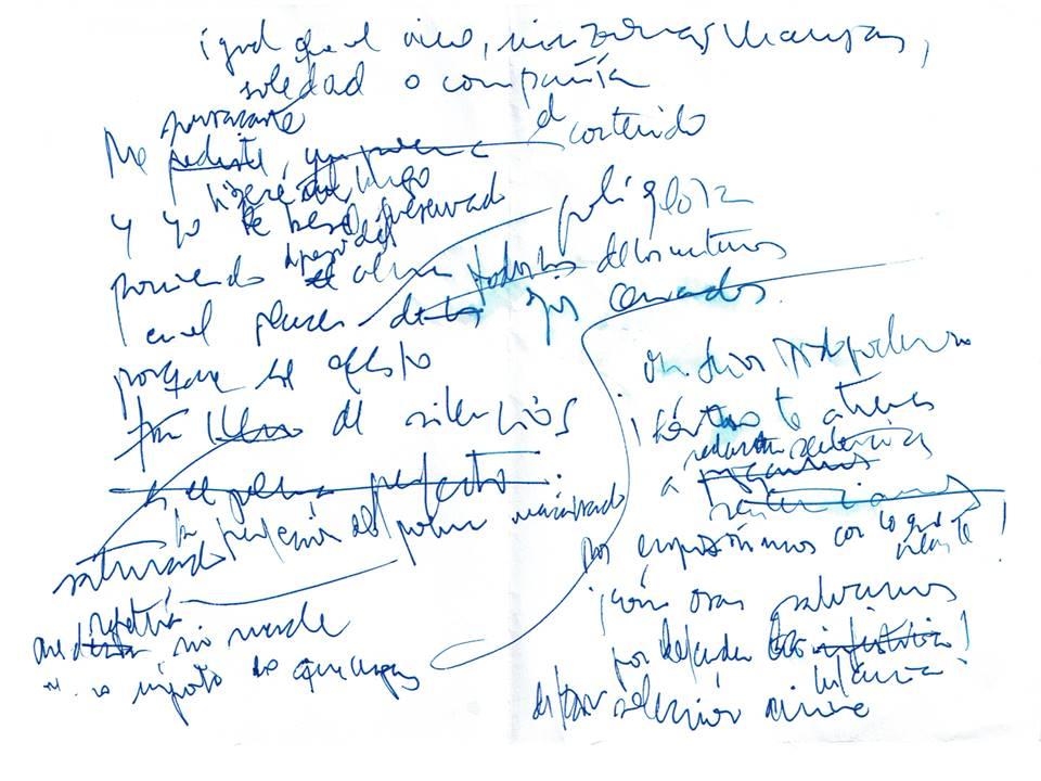 Igual que el vino Texto manuscrito nº 26