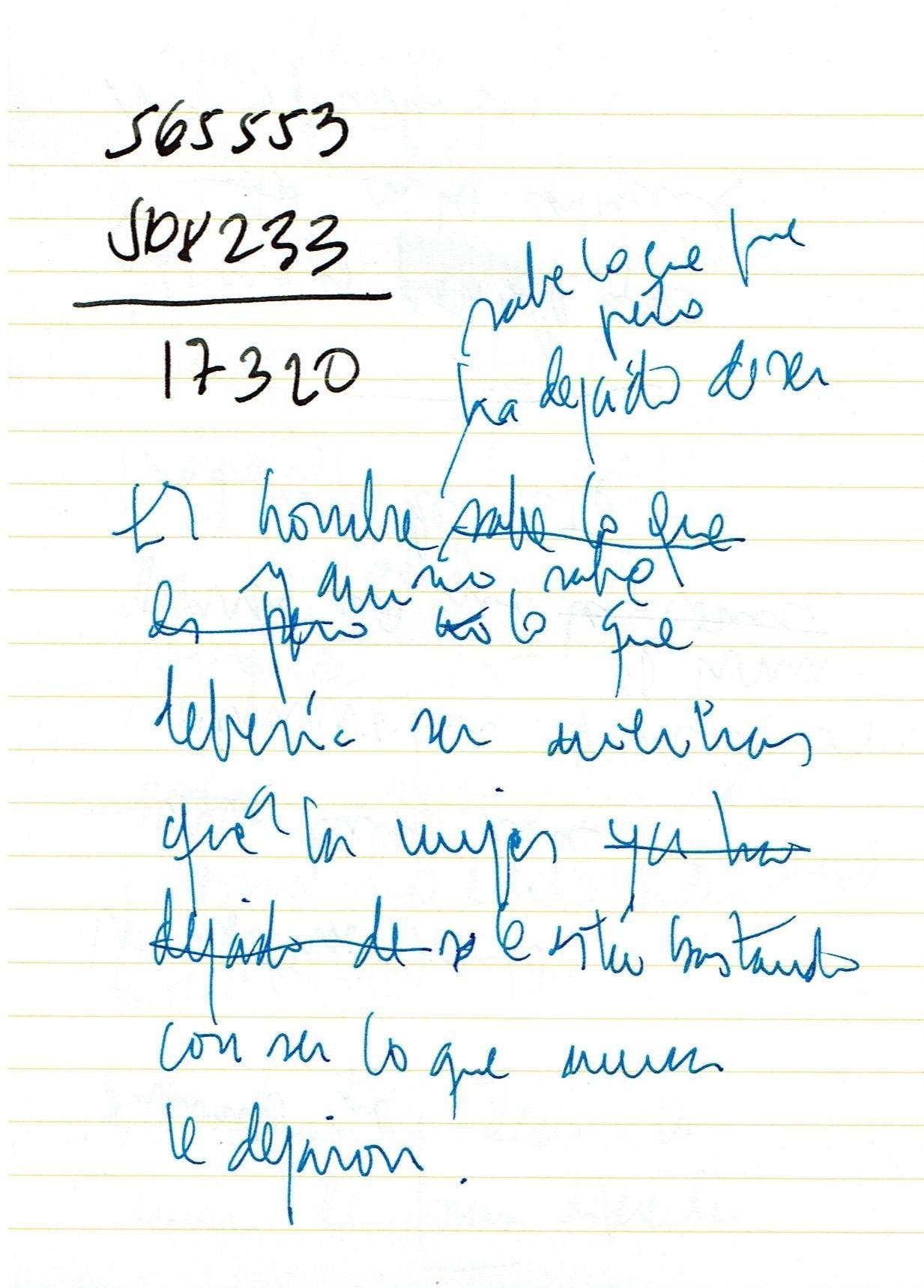 Texto manuscrito nº 30