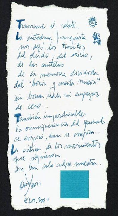 Olvidos a la espera Texto manuscrito nº 4