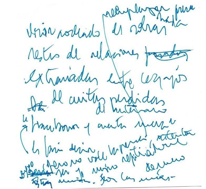 Olvidos a la espera Texto manuscrito nº 8