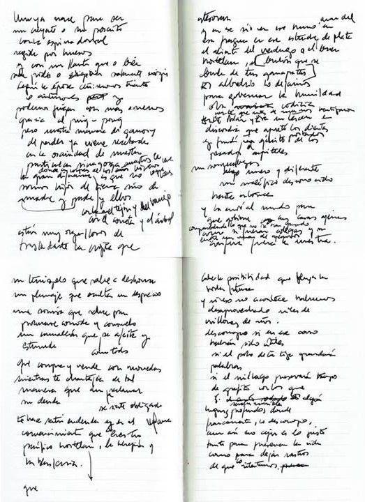 Resguardos de silencios Texto manuscrito nº 9