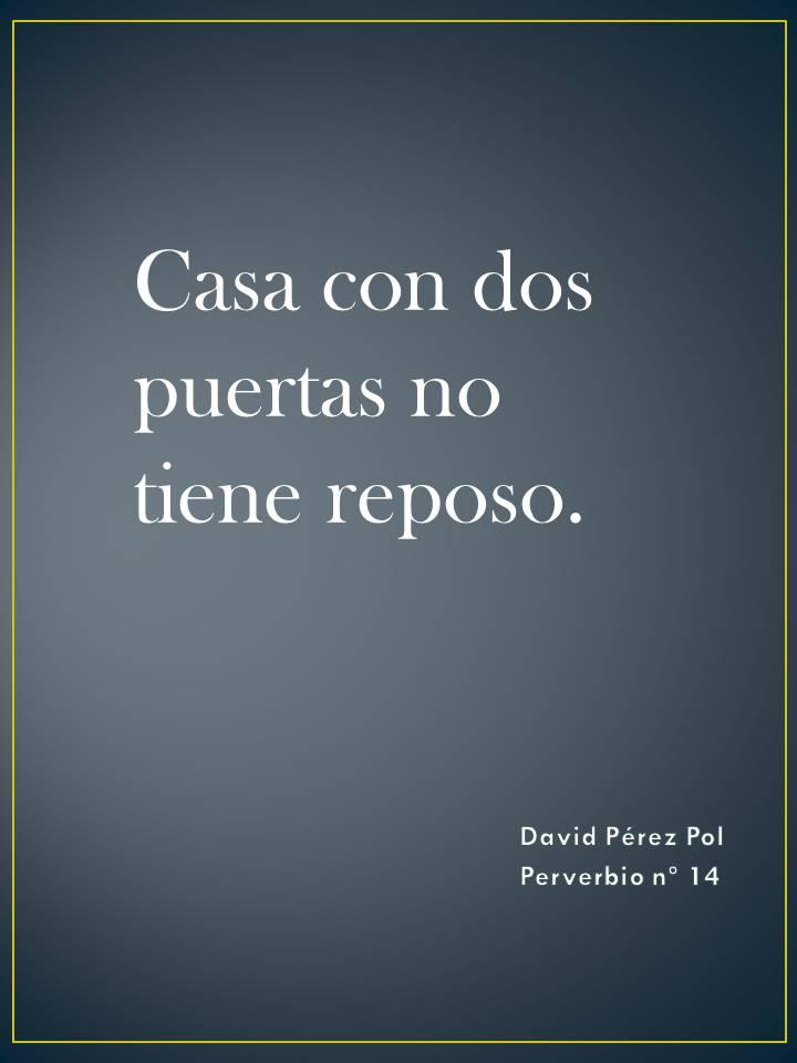 Casa con dos puertas Preverbio nº 14 de David Pérez Pol