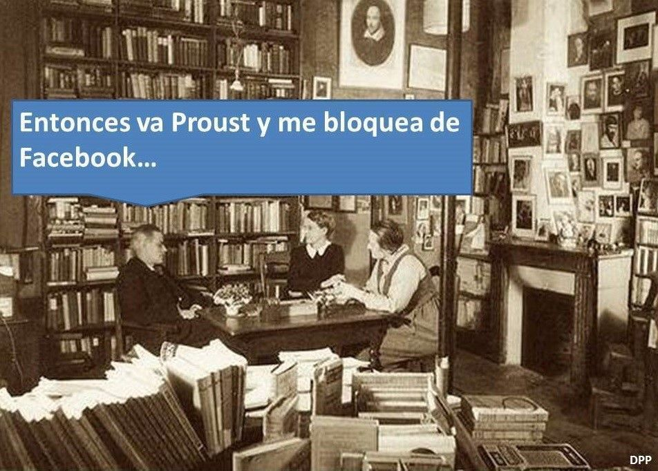 Proust bloquea a Joyce en Facebook