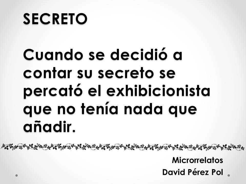Secreto Microrrelato nº 26 de David Pérez Pol