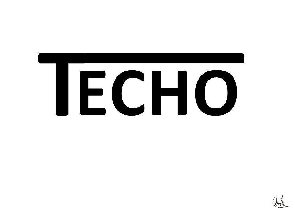 Techo, caligrama