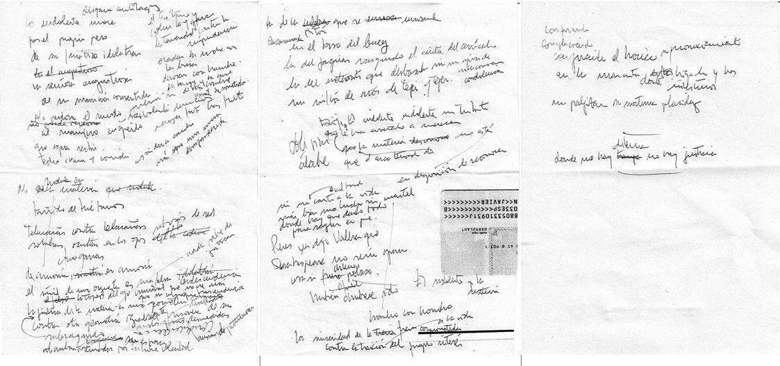 Por el propio peso Texto manuscrito nº 40