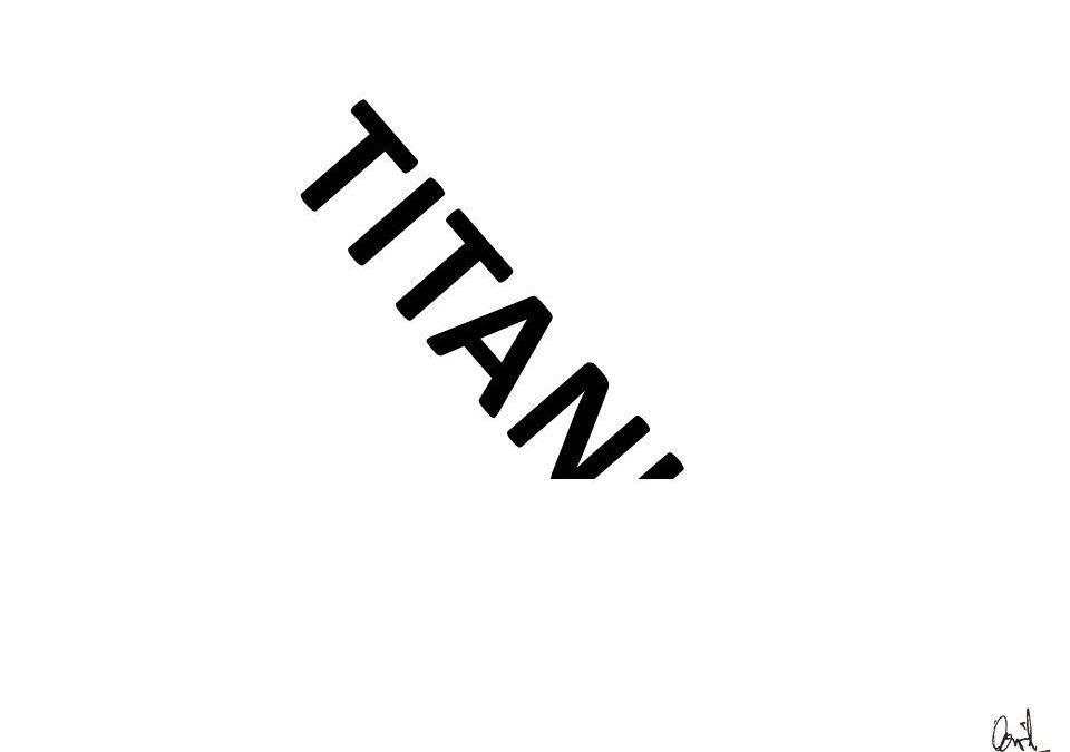 Titanic, caligrama