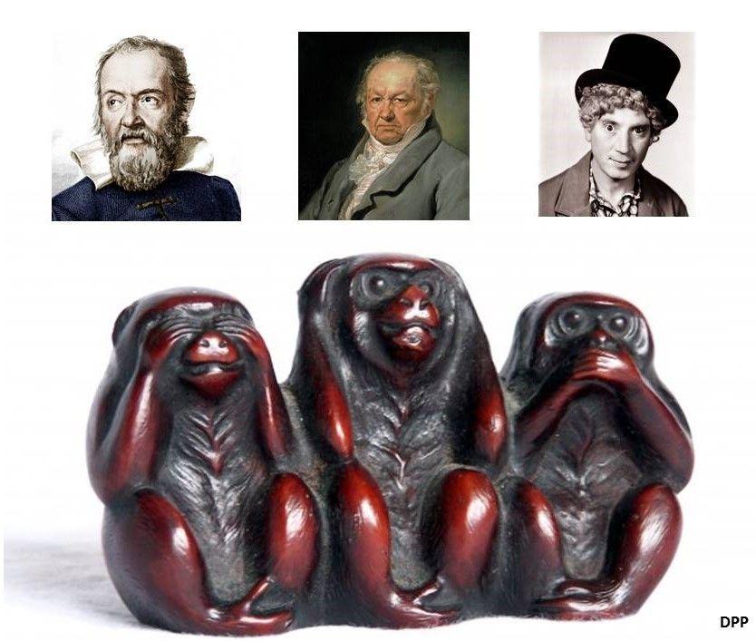 Tres monos (ver, oir y callar)