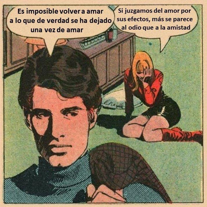 Es imposible volver a amar Viñeta filosófica nº 14