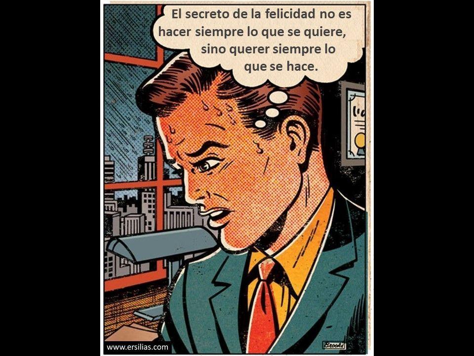 El secreto de la felicidad es Viñeta filosófica nº 82 de David Pérez Pol