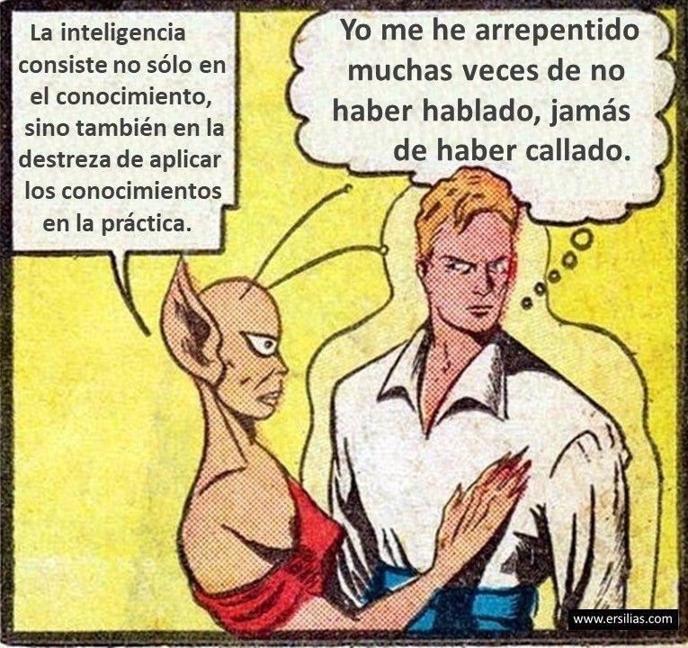 La inteligencia consiste Viñeta filosófica nº 100 de David Pérez Pol